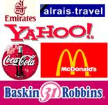 Graphic of a variety of companies