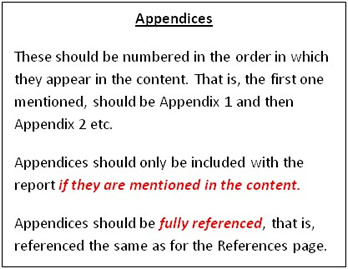 what to include in an appendix of research paper